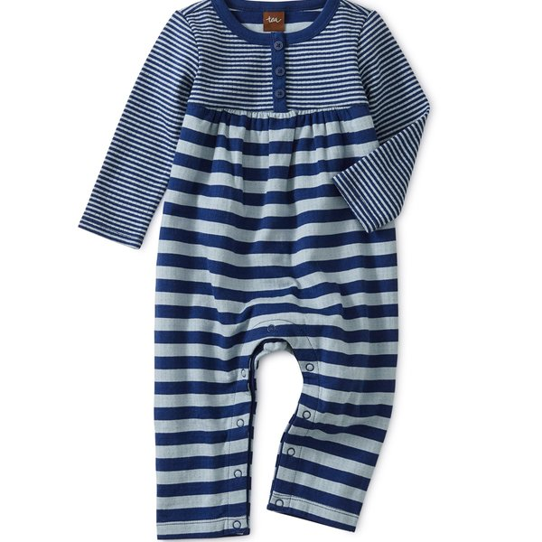 Tea Collection Tea Collection Baby Striped Double Knit Romper