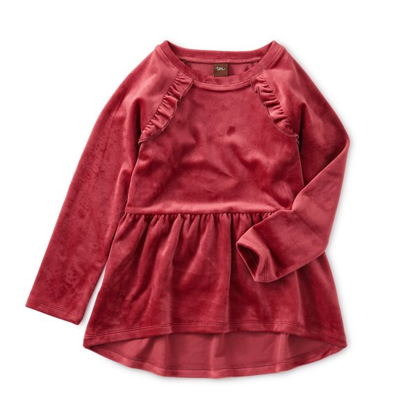 Tea Collection Tea Collection Velour Tunic Ruffle Top