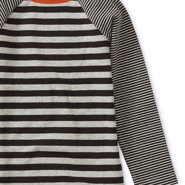 Tea Collection Tea Collection Double Knit Striped Raglan Tee