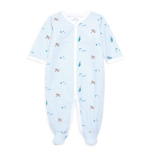 Roller Rabbit Roller Rabbit Infant Ripples Footie Pajamas
