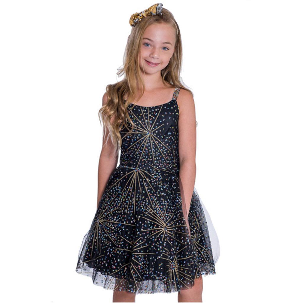 Zoe Ltd Zoe Fireworks Layered Tulle Dress - Size: 16