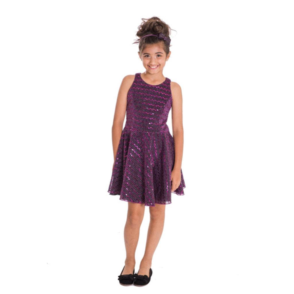 Zoe Ltd Zoe Glitter Kiki Shift Dress - Size: 16