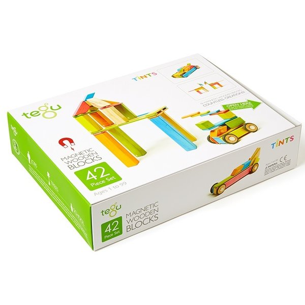 Tegu 42-Piece Tints Magnetic Block Set