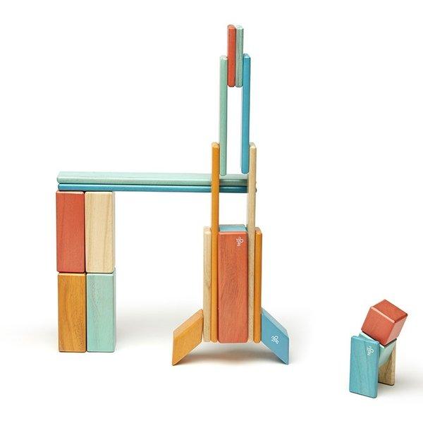 Tegu 24-Piece Sunset Magnetic Block Set