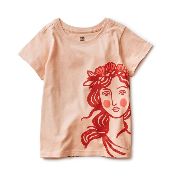 Tea Collection Tea Collection Girls Mermaid Front Back Tee