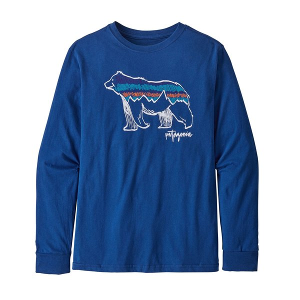Patagonia Patagonia Boys Long-Sleeved Graphic Organic Cotton T-Shirt