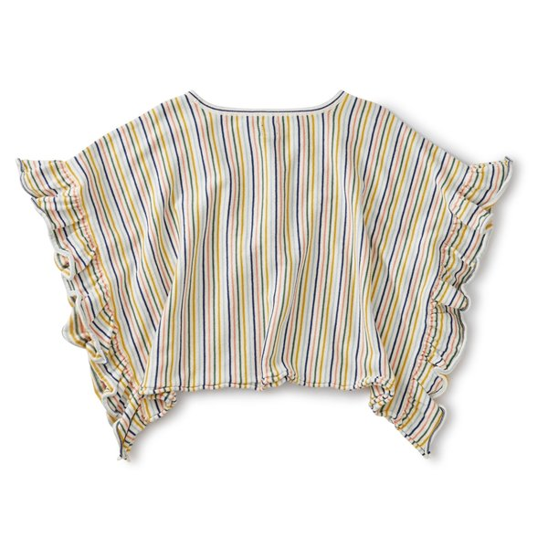 Tea Collection Tea Collection Girls Striped Sweater Poncho