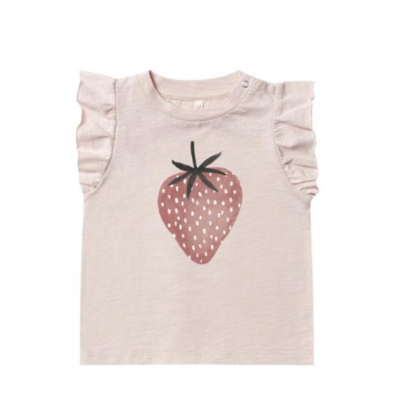 Rylee & Cru Rylee & Cru Baby Girls Strawberry Ruffle Tank