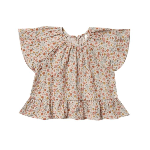 Rylee & Cru Rylee & Cru Baby Girls Flower Field Butterfly Top