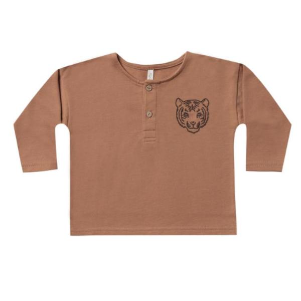 Rylee & Cru Rylee & Cru Boys Tiger Henley Sweatshirt
