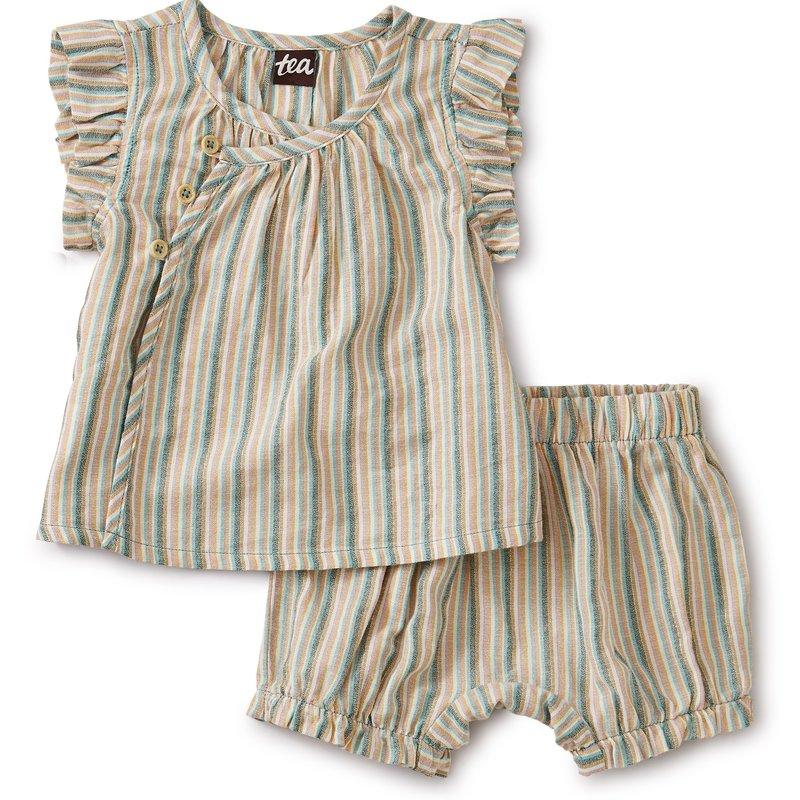 Tea Collection Tea Baby Girls Stripe Set