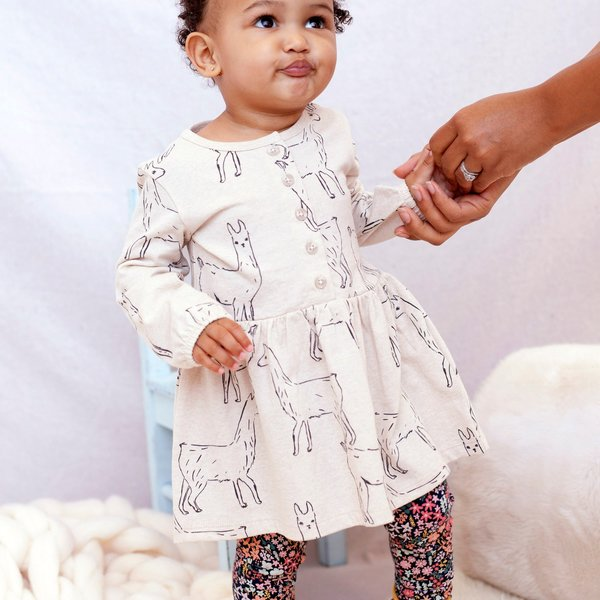 Tea Collection Tea Collection Girls Button Front Baby Dress