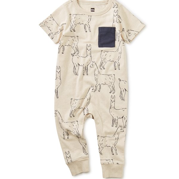 Tea Collection Tea Collection Baby Printed Pocket Romper