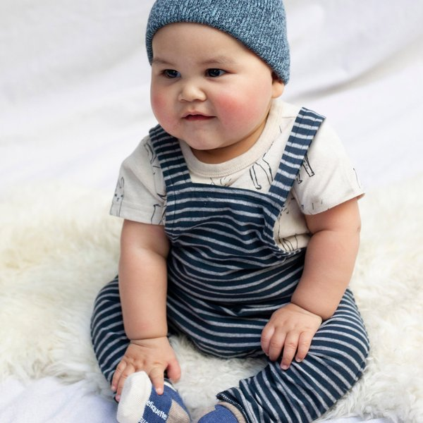 Tea Collection Tea Collection Baby Striped Overall Set