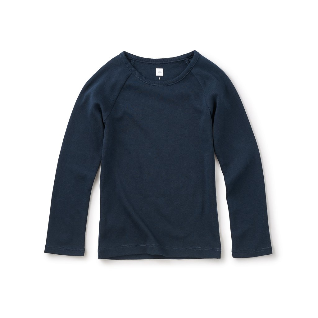 Tea Collection Tea Collection Girls Ribbed Purity Tee