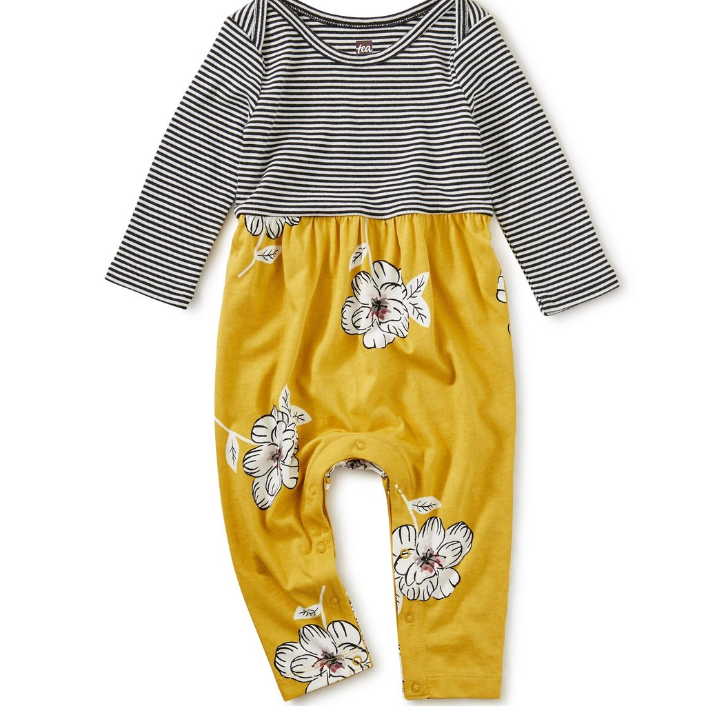 Tea Collection Tea Collection Baby Girls Two-Tone Romper