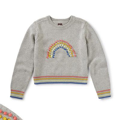 Tea Collection Tea Rainbow Pompom Sweater