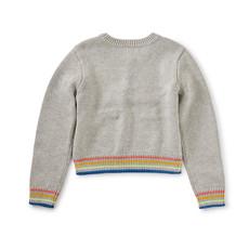 Tea Collection Tea Collection Girls Rainbow Pompom Sweater