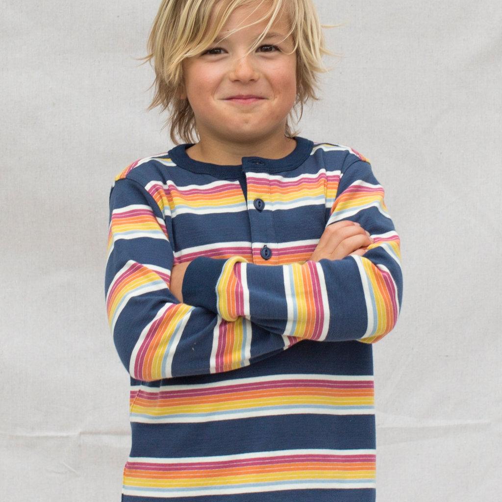 Tea Collection Tea Collection Boys Long Sleeved Striped Henley Top