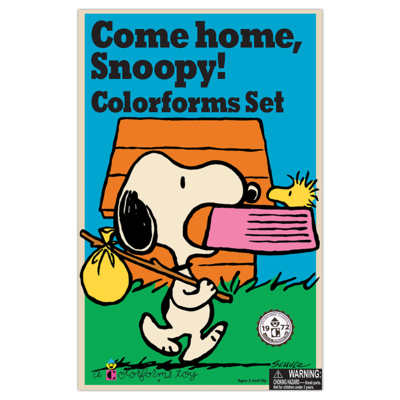 Kahootz Colorforms Retro Snoopy