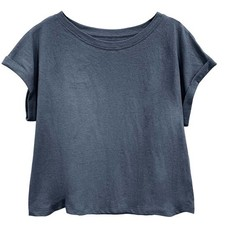 Fabina Fabina Recycled Cotton Plain Crop Top