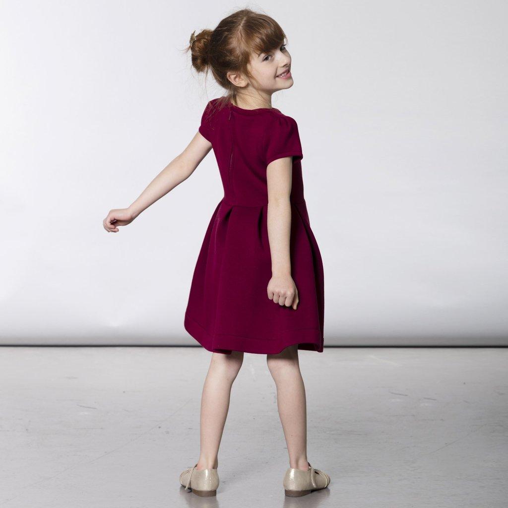 Deux par Deux Deux par Deux Pleated Neoprene Dress