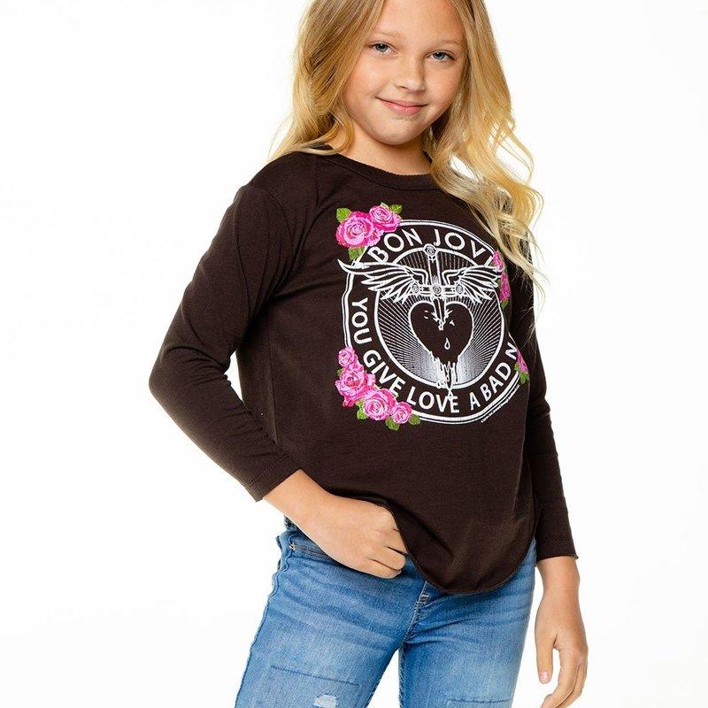 Chaser Kids Chaser Girls Vintage LS 'Bon Jovi' Tee