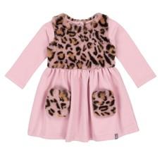 Deux par Deux Deux par Deux Pink Fleece Faux Fur Dress