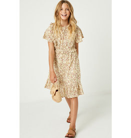 Hayden Floral Ruffle Midi Dress