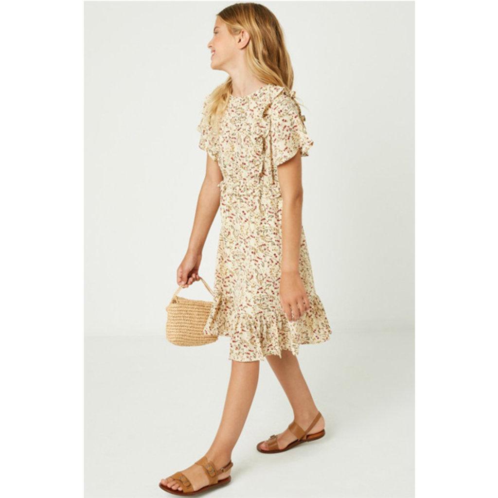 Hayden Girls Floral Ruffle Midi Dress