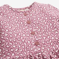 JoJo Maman Bebe JoJo Maman Bebe Pink Animal Print Sweat Dress