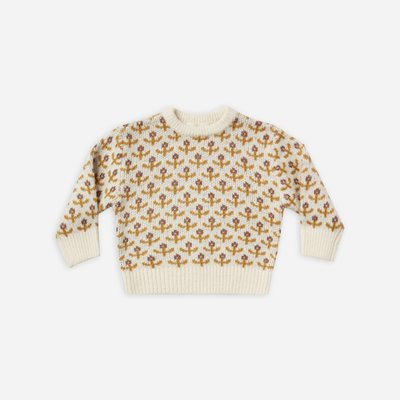 Rylee & Cru Rylee & Cru Flower Stitch Knit Pullover