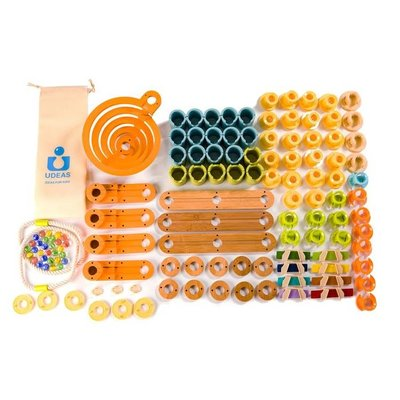 Fat Brain Bamboo Builder Marble Run