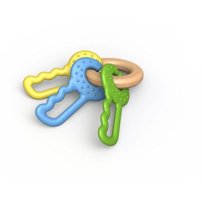 Begin Again Begin Again Green Keys Teething Toy