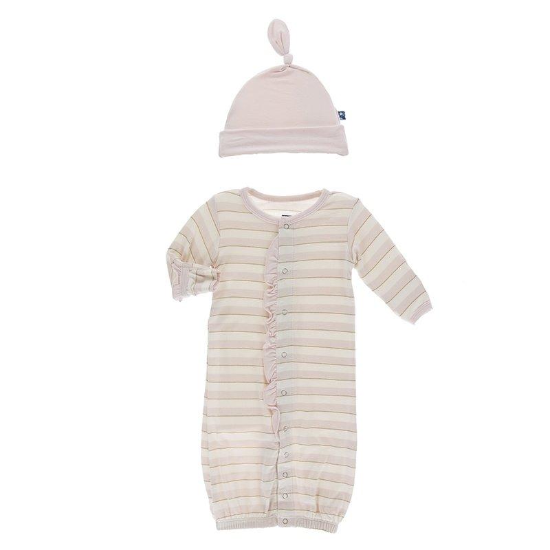 KicKee Pants KicKee Pants Ruffle Gown Hat Set