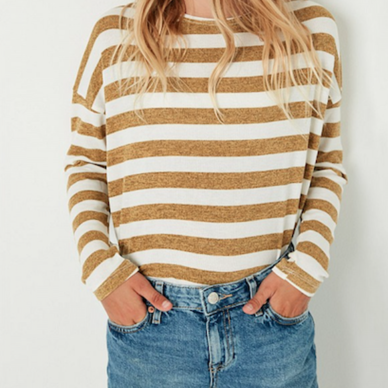 Hayden Drop Shoulder Stripe Top