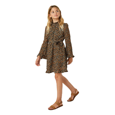 Hayden Girls Belted Smock Neck Dress