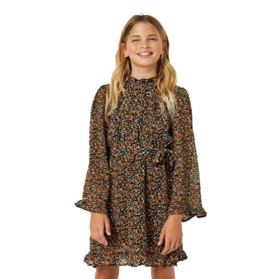 Hayden Belted Smock Neck Dress