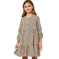 Hayden Girls Long Sleeved Tiered Buttoned Mini Dress