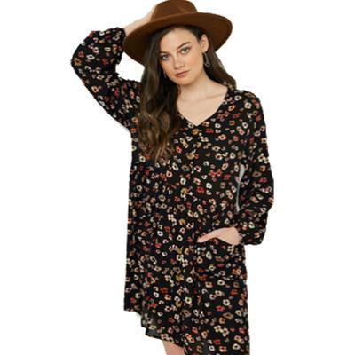Hayden Button Down Floral Mini Dress
