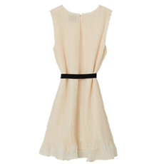 Hayden Womens Belted Pleated Swing Dress