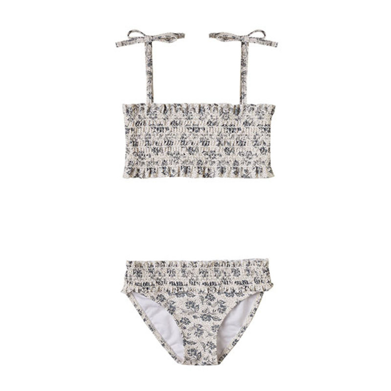 Rylee & Cru Rylee & Cru Roses Smocked Bikini