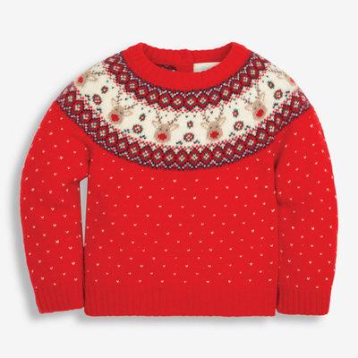 JoJo Maman Bebe JoJo Maman Reindeer Fair Isle Sweater