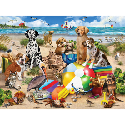 White Mountain Puzzles White Mountain Puzzles - Beach Buddies