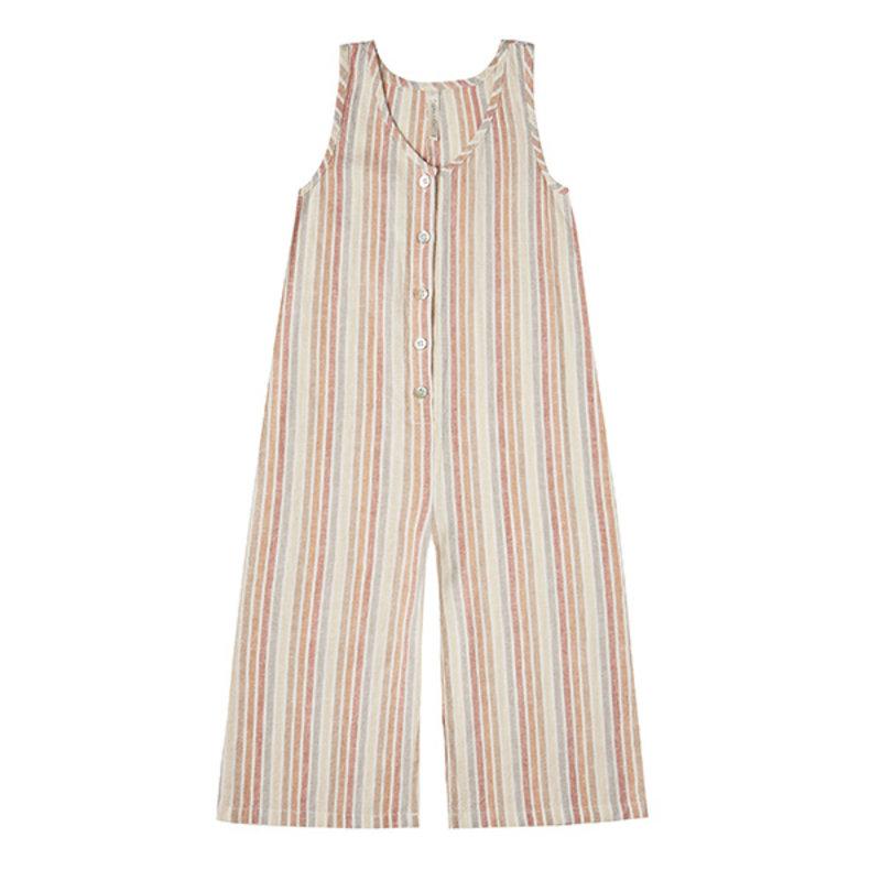 Rylee & Cru Rylee & Cru Girls Bridgette Jumpsuit (Stripe)