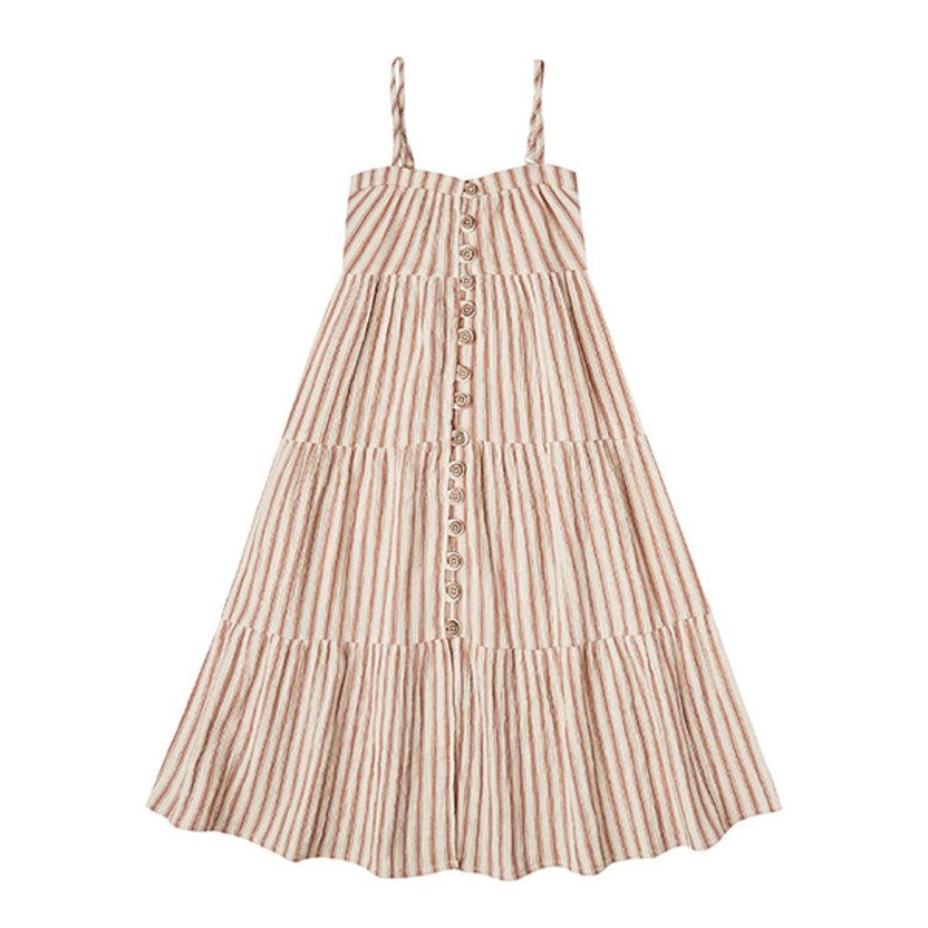 Rylee & Cru Rylee & Cru Girls Striped Tiered Maxi Dress - Size: 4-5