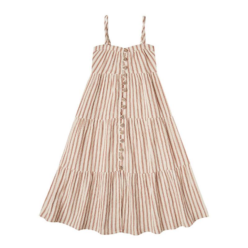 Rylee & Cru Rylee & Cru Striped Tiered Maxi Dress