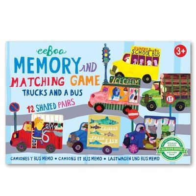 eeBoo Trucks & a Bus Little Shaped Matching Game
