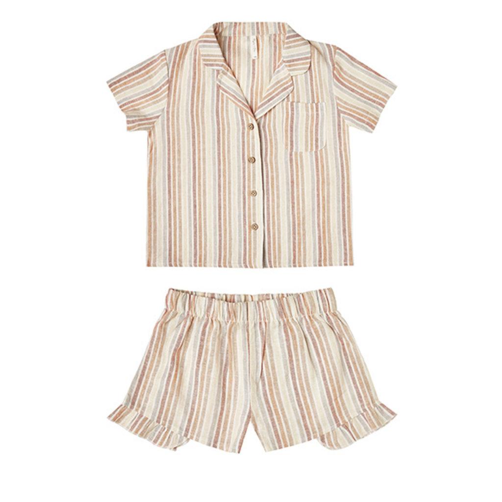 Rylee & Cru Rylee & Cru Girls Striped Bedtime Pajama Set