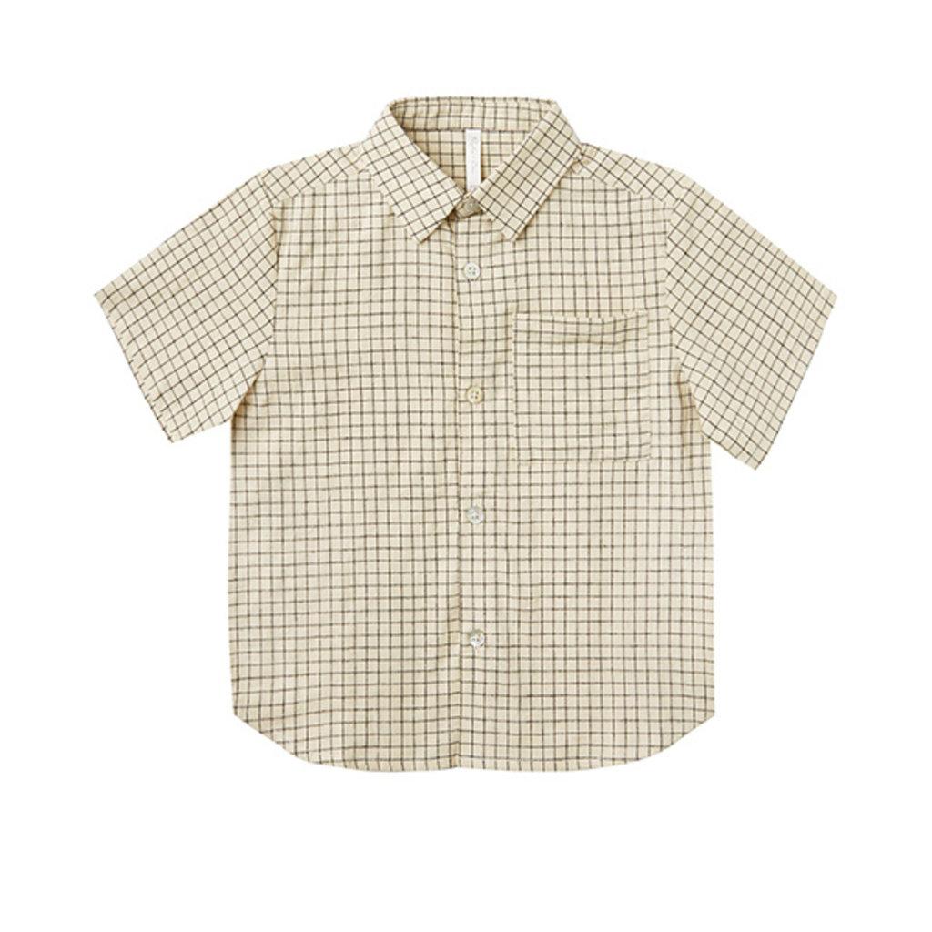 Rylee & Cru Rylee & Cru Teen Boys Grid Collared Shirt